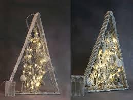 Details Zu Led Weihnachtsdeko Herbstdeko Silber 618h Timer Warmweiße Leds 32 O 46cm