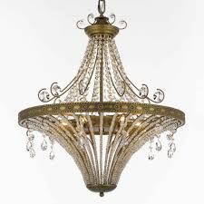 pamplona 24 inch hanging chandelier with clear crystal 4705 24