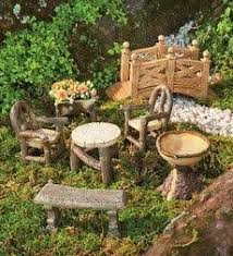 fairy homes and gardens.  Fairy Woodland Fairy Garden Resin Furniture Set With Fairy Homes And Gardens L