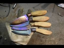 Knife Making 4x Tempering Colors Experiment