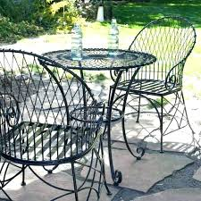 cast iron patio furniture black set metal outdoor chairs wrought tables antique
