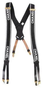 chanel suspenders. chanel black and white suspenders n