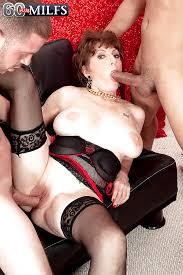 60 granny stocking black cock anal