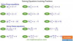 solving equations with fractions mr