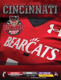 Cincinnati Bearcats Depth Chart The 2016 Cincinnati Football Roster Card Vs East Carolina
