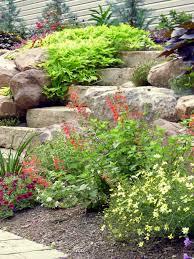 a rock wall garden
