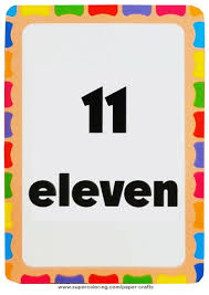 Flashcard With Number Eleven Printable Template Free Printable