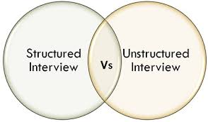 advantages of structured interviews difference between structured and unstructured interview