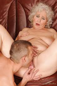 Licked her granny hairy