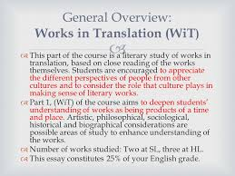 english literature hl sl ppt video online  general overview works in translation wit