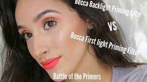 Becca Backlight Vs First Light Becca Backlight Primer Vs Firstlight Primer First Impressions Weartest