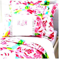 lilly bedding clearance oh reversible pulitzer duvet cover covers full flamingo blue pink orange designer dorm