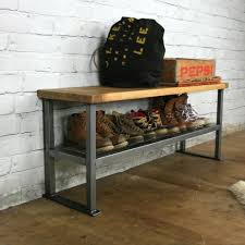 Industrial Coat Rack Bench Industrial Rustic Hallway Shoe Storage Rack Bench Made To Order 89