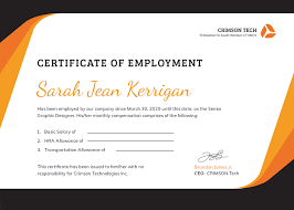 Certificate Of Employment With Compensation Editable