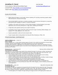 Social Media Skills Resume Resumes Sociala Resume Manager Cover Letter Beautiful Samples 8