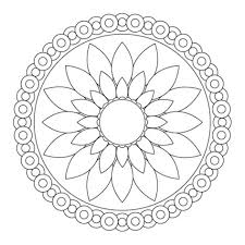 Small Picture Flower Mandala Coloring Pages myreviewme