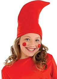 childrens size red garden gnome hat
