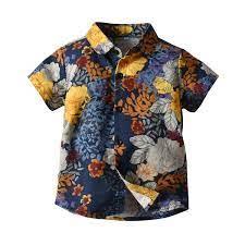 Thời Trang Mùa Hè Quần Áo Trẻ Em Áo Sơ Mi Bé Trai Ngắn Tay Áo Sơ Mi Caro Bé  Trai Họa Tiết Bé Trai Dành Cho Trẻ Cao Cấp|Shirts