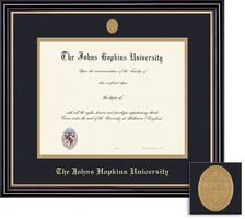 diploma frames barnes noble johns hopkins bookstore framing success prestige diploma frame medallion dbl matted in satin black finish gold