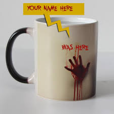custom your name on walking dead zombie color changing coffee mug heat sensitive magic tea cup mugs i am here now wow mugs clear glass coffee