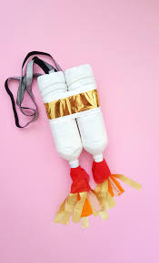 we then got inspired by some of the outfit ideas from my space costume board on and he made himself an easy jetpack