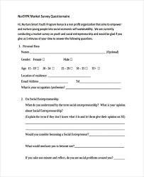 Template For Questionnaire Free 37 Questionnaire Templates Examples In Pdf Examples