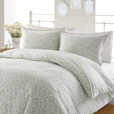 modern bedroom decoration with flannel duvet cover plus decorative pillows also white metal headboard ideas