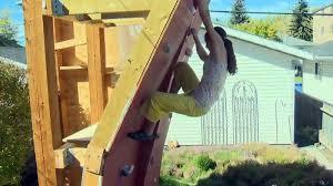calgary family s backyard climbing wall