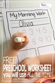 FREE Preschool Worksheet You Will Use All the Time! - The Super ...