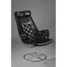 dux jetson black leather armchair bruno mathsson 1960s design market