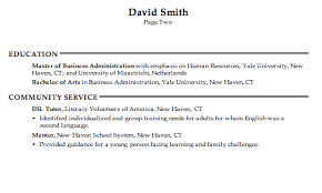 combination resume example human resources generalist pg2 hr generalist resume examples