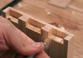 dovetail chisel. cleaning the waste in half blind dovetail joints chisel