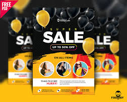 Download Super Sale Flyer Design Free Psd Psddaddy Com