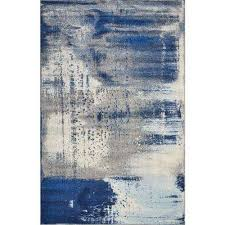 watercolors ice blue flow 5 ft x 8 ft area rug