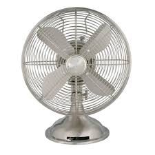 Hunter Retro 12 in. 3 Speed Oscillating Personal Table Fan-90400 ...