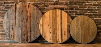 reclaimed table tops round table top inch reclaimed wood top with steel band reclaimed wooden table tops uk
