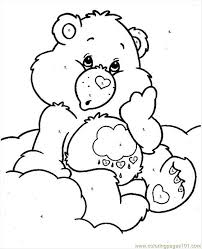 Small Picture Bearcareby Numbers Coloring Page Free Care Bears Coloring Pages