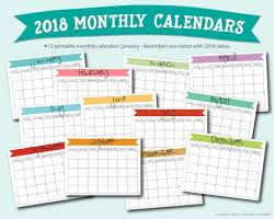 mothly calendar free printable a5 2018 monthly calendars live craft eat