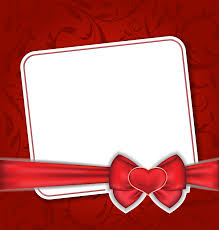 Red Photo Frames Transparent Red Frame With Heart Bow Gallery Yopriceville High