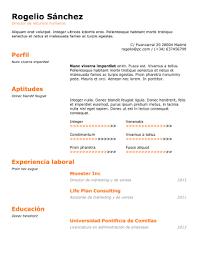 Modelo De Curriculum Vitae En Word Plantillas Para Curriculum Gratis En Formato Word