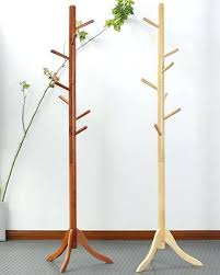 Unfinished Coat Rack Mesmerizing Wooden Coat Rack Oak Stand Wood Hook Room Furniture In Racks From On