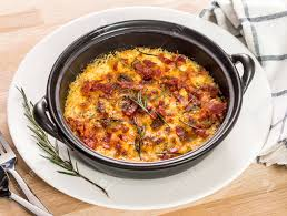 Seafood Gratin With Bacon And Cheese ...