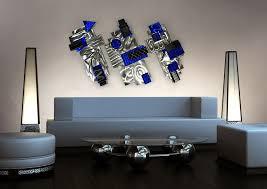 aviator silver blue black abstract 3d metal wall art sculpture by jon allen 72 x 28 x 3  on abstract metal wall art sculpture with aviator silver blue black abstract 3d metal wall art sculpture