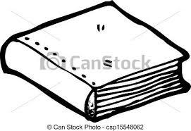 closed book cartoon csp15548062