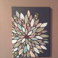 uses scrap boon paper cut into petals and a painted canvas easy and cute  on cut canvas wall art tutorial with photo to wood transfer tutorial in 5 simple steps boon scrap and