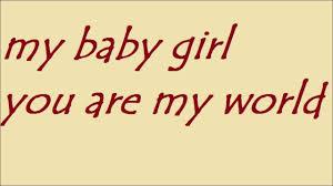You my baby girl