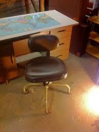 vintage metal office chair. Vintage Cramer Office Chair Brown- Industrial Metal E