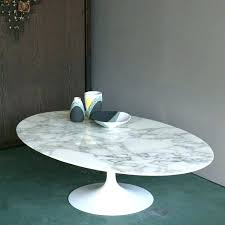 low oval coffee table knock off saarinen replica