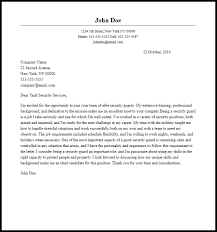 Professional Security Guard Cover Letter Sample Writing Guide