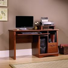 com sauder camden county computer desk planked cherry finish kitchen dining